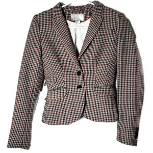 H & M Classic Wool Houndstooth Blazer Size 2